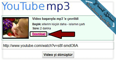 Youtube mp3 indirmek